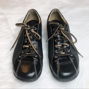 Born Black Leather Lace Up Sneaker Shoe Hawkeye